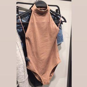 Zara backless nude bodysuit